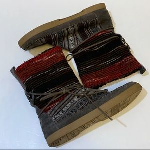 Toms Suede and textile Nepal boots